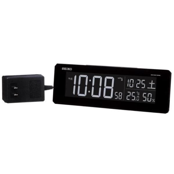 セイコー 目覚まし時計 電波 デジタル 交流式 カラー液晶 シリーズC3 黒 DL205K|empire-clock