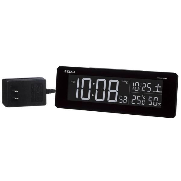 SEIKO セイコー 目覚まし時計 夜でも見える 暗くても見える 電波 デジタル 交流式 カラー液晶 シリーズC3 黒 DL205K【お取り寄せ】|empire-clock|02