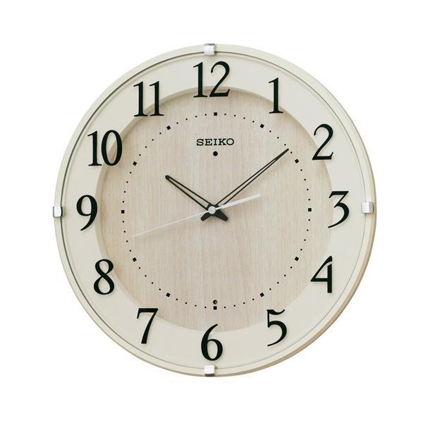 SEIKO セイコー 掛け時計 壁掛け スタンダード 電波時計 電波 アナログ アイボリー ナチュラル シンプル 見やすい KX397A【お取り寄せ】|empire-clock