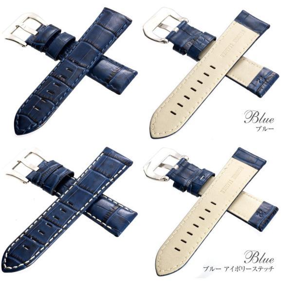 時計 腕時計 ベルト バンド  EMPIRE  AUNTY アンティ 本革 イタリアンレザー クロコ 22mm 24mm パネライ ガガミラノ アップルウォッチにも|empire|05