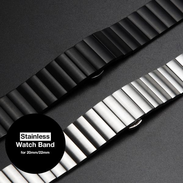 時計 ベルト 20mm 22mm ステンレス バタフライバックル イージークリック EMPIRE AARO アーロ ベルト調整工具付き|empire