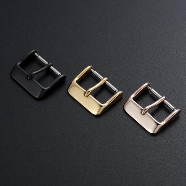 時計 ベルト 腕時計 バンド 尾錠 バックル ステンレス ゴールド ローズゴールド ブラック シルバー 16mm 18mm 20mm|empire