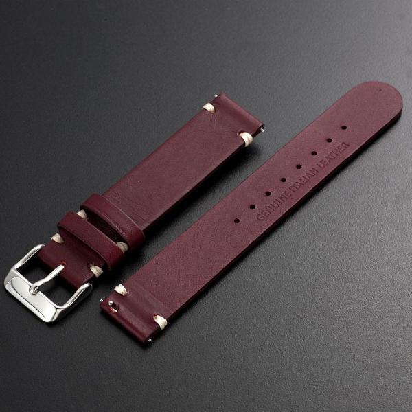 時計 腕時計 ベルト バンド  EMPIRE  革 本革 イタリアンレザー  ハンドステッチ ワンタッチで簡単装着 イージークリック|empire|07