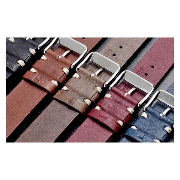 時計 腕時計 ベルト バンド  EMPIRE  革 本革 イタリアンレザー  ハンドステッチ ワンタッチで簡単装着 イージークリック|empire|08