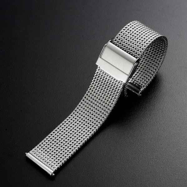 時計 腕時計 ベルト バンド 18mm 20mm 22mm EMPIRE  316L ミラネーゼ メッシュ ワンタッチで簡単装着 イージークリック ステンレス|empire|02