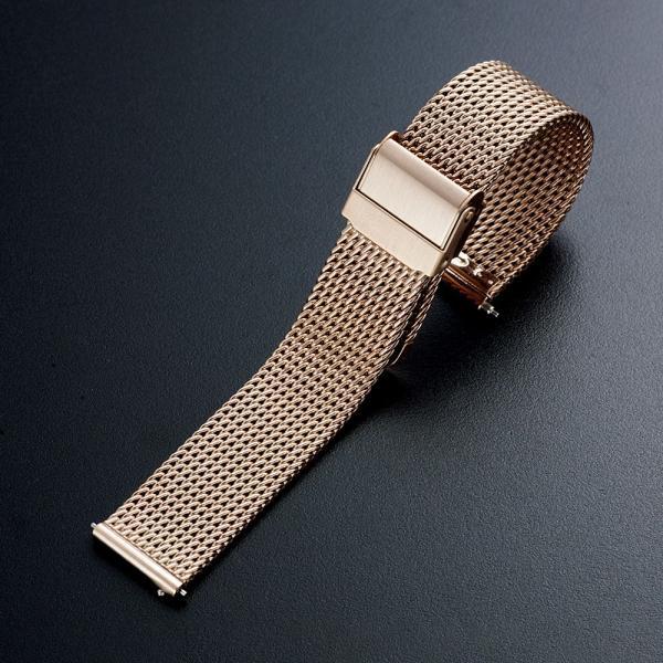 時計 腕時計 ベルト バンド 18mm 20mm 22mm EMPIRE  316L ミラネーゼ メッシュ ワンタッチで簡単装着 イージークリック ステンレス|empire|03