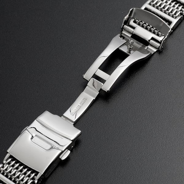 時計 腕時計 ベルト バンド  EMPIRE  交換 シャークメッシュ ダイバー 316L ステンレス メタル 金属 22mm 20mm|empire|02