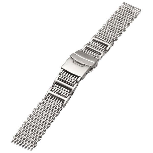 時計 腕時計 ベルト バンド  EMPIRE  交換 シャークメッシュ ダイバー 316L ステンレス メタル 金属 22mm 20mm|empire|03