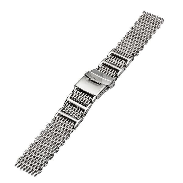 時計 腕時計 ベルト バンド  EMPIRE  交換 シャークメッシュ ダイバー 316L ステンレス メタル 金属 22mm 20mm|empire|04