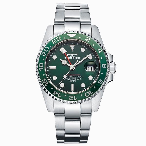 腕時計 メンズ ブランド 高級 おしゃれ テクノス GMT T2444SG