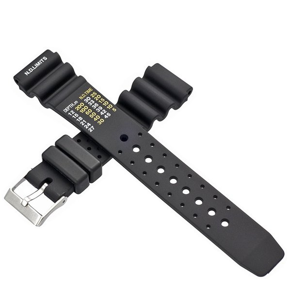 時計 腕時計 ベルト バンド  EMPIRE  N.D.LIMITS 無減圧限界値 ダイバー ウレタン 20mm 22mm|empire|03