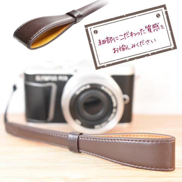 レザー カメラストラップ カメラアクセサリー カメラ|empt|06