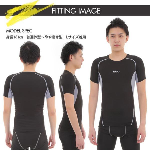 EMPT メンズ コンプレッションウェア コンプレッションインナー 夏用 夏 半袖 Tシャツ おしゃれ 大きいサイズ 小さいサイズ 筋トレ トレーニング ジム スポーツ|empt|11
