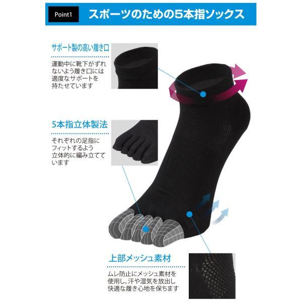 EMPT 5本指 ランニングソックス 靴下 メンズ 黒 ブラック スポーツソックス おすすめ おしゃれ プレゼント かっこいい マラソン ランニング 長距離走 大会 試合|empt|03