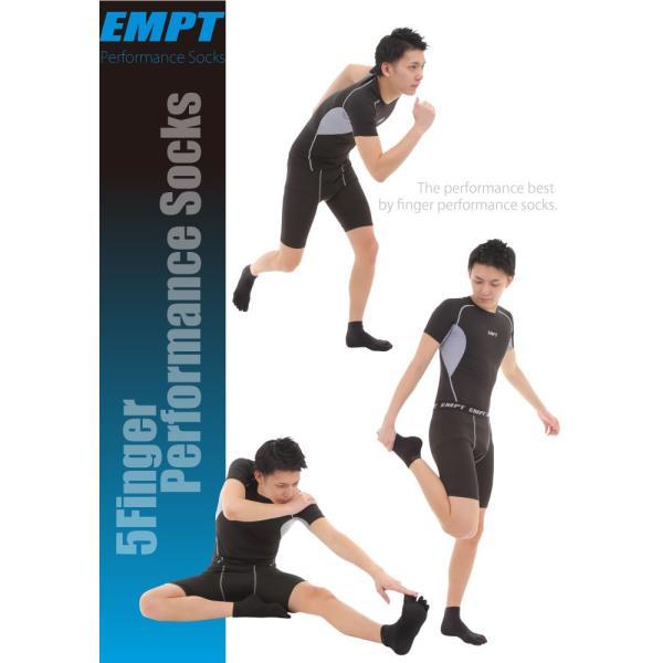 EMPT 5本指 ランニングソックス 靴下 メンズ 黒 ブラック スポーツソックス おすすめ おしゃれ プレゼント かっこいい マラソン ランニング 長距離走 大会 試合|empt|10