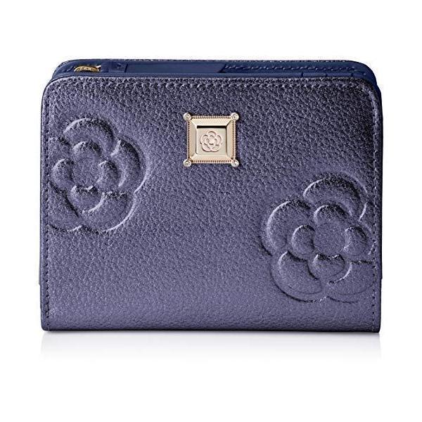 クレイサス 折り財布二つ折り財布 新型 マリーゴールド187826ネイビー