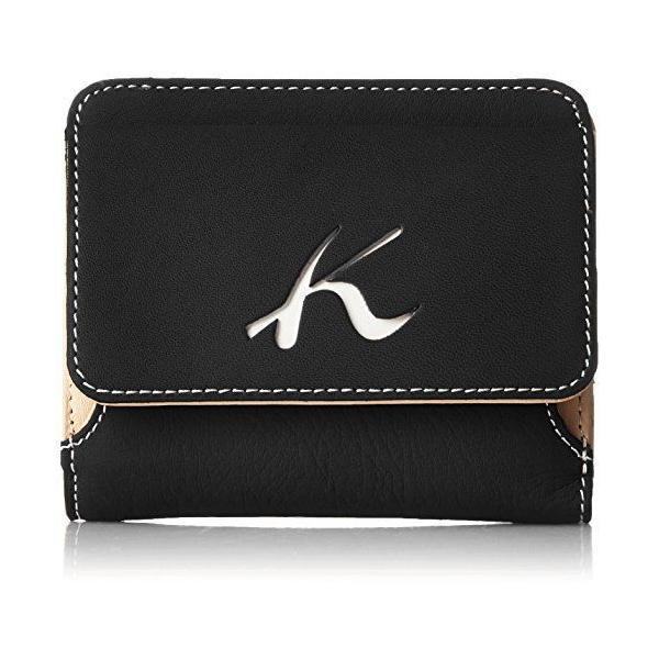キタムラ 二折財布天然素材独特の風合いPH0539ダークブルー/ホワイトステッチ 紺 10901