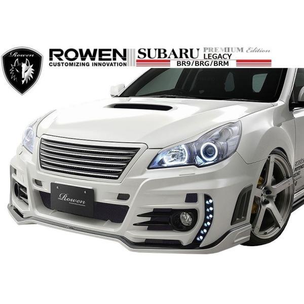 【M's】 スバル レガシィ ツーリング ワゴン & B4(D型)フロント バンパー LEDスポット付 / ROWEN/ロエン エアロ // SUBARU LEGACY / 1S003A20|emuzu-international
