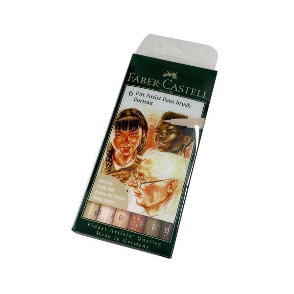 メール便可 マーカーペン ファーバーカステル PITTアーティストペン ポートレートアソート ブラシタイプペン先 カラー筆ペン