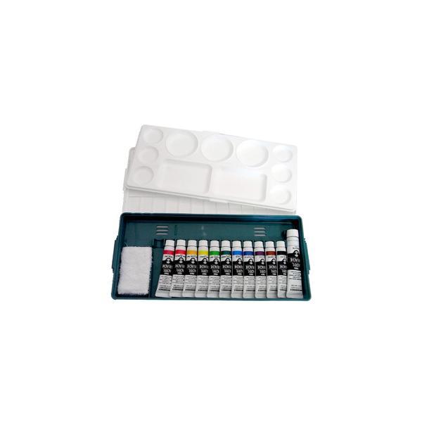 メール便不可 ターナー アクリルガッシュ 組み合わせセット プライムセット 12A パレット+アクリル絵の具11色(11ml)+ホワイ