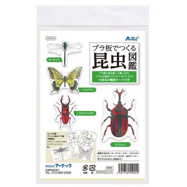 プラ板でつくる昆虫図鑑 1セット入 【55904】【ゆうパケット対応】