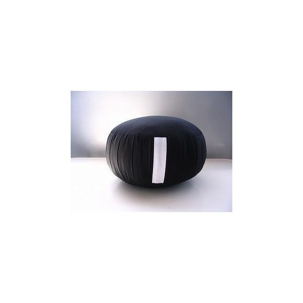 座禅座布団(直径33cm 厚み約20cm)生地に帆布を使用し高級パンヤをぎっしり詰めています。ファスナー付きで堅さの調節が可能です。生地色「黒」|enchudo-zafu