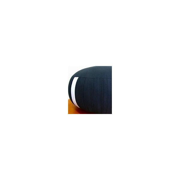 座禅座布団(直径33cm 厚み約20cm)生地に帆布を使用し高級パンヤをぎっしり詰めています。ファスナー付きで堅さの調節が可能です。生地色「黒」|enchudo-zafu|02