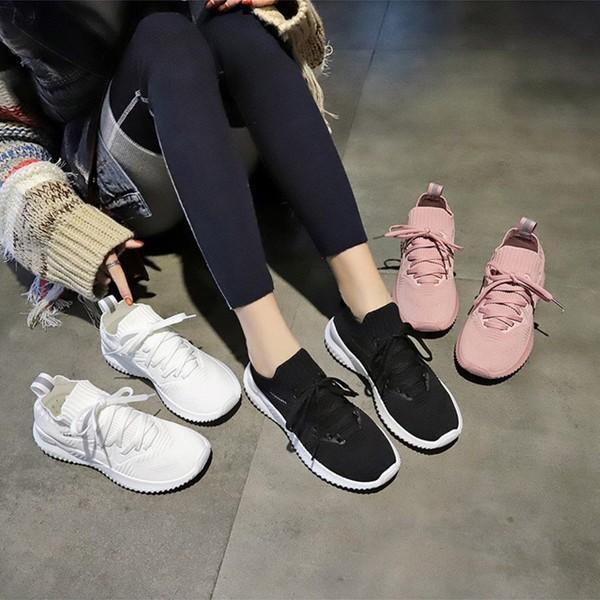 スニーカー レディース ダイエットシューズ 厚底 ピンク ホワイト ブラック 靴 くつ 婦人靴 22.5-25cm 美脚効果 おしゃれ シンプル 通気性 encore