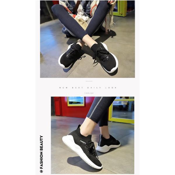 スニーカー レディース ダイエットシューズ 厚底 ピンク ホワイト ブラック 靴 くつ 婦人靴 22.5-25cm 美脚効果 おしゃれ シンプル 通気性 encore 04