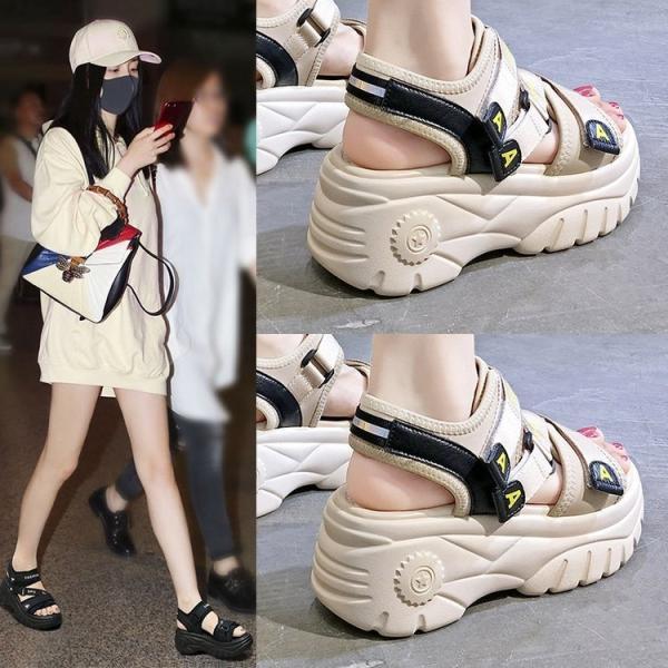 サンダルレディース靴厚底サンダルスポーツサンダルビーチサンダル歩きやすい疲れない室外軽く滑り止め外履きおしゃれ夏用サンダル2色