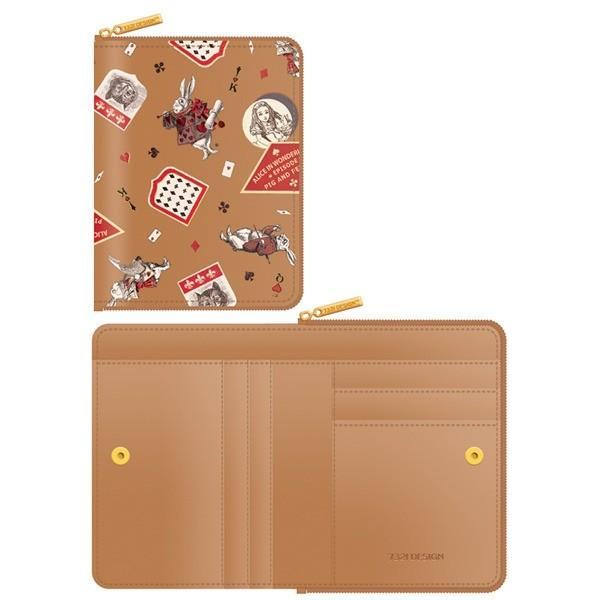 7321Design(7321デザイン) 可愛いギフトボックスに入った小銭入れ付ミニ財布/アリス/ラベル(ベージュ)【商工会会員です】