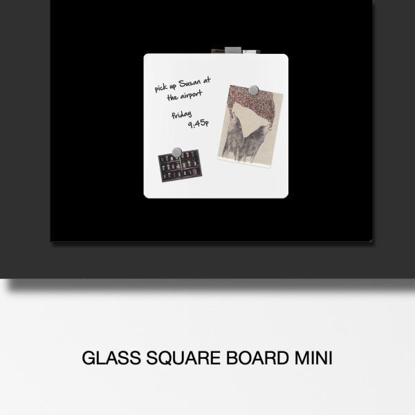 ホワイトボード おしゃれな 壁掛け ガラス製 スクエア ボード 38cm×38cm|enitusa