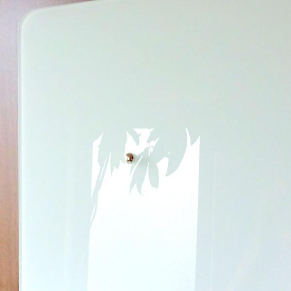 ホワイトボード おしゃれな 壁掛け ガラス製 スクエア ボード 38cm×38cm|enitusa|03