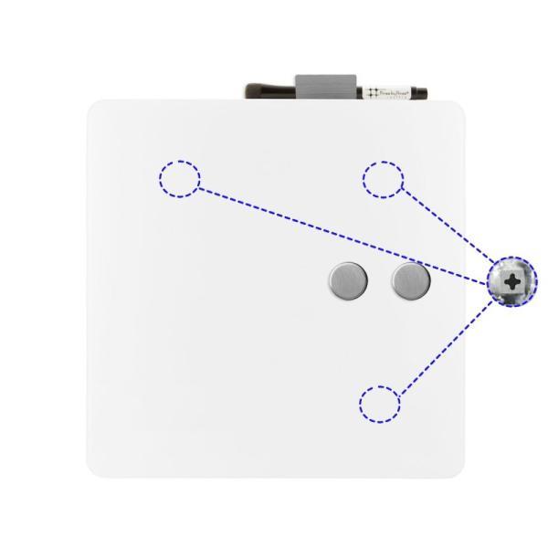 ホワイトボード おしゃれな 壁掛け ガラス製 スクエア ボード 38cm×38cm|enitusa|04
