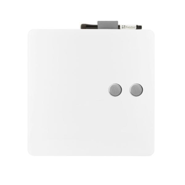 ホワイトボード おしゃれな 壁掛け ガラス製 スクエア ボード 38cm×38cm|enitusa|05