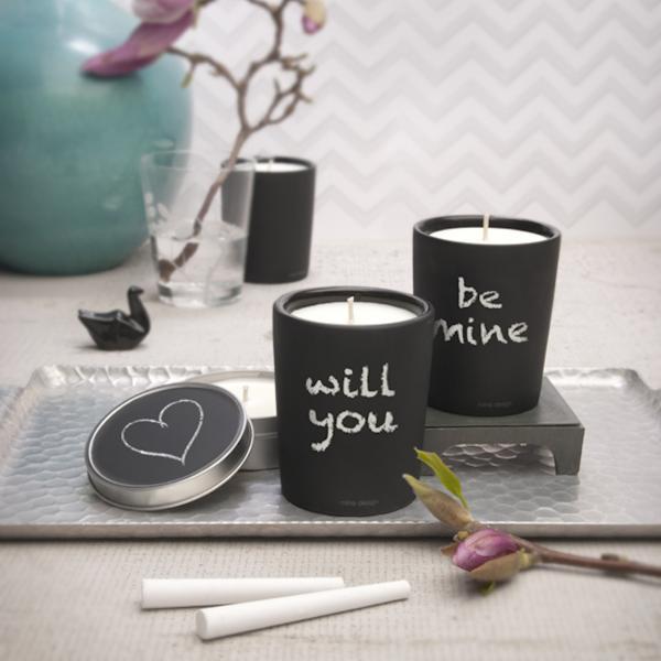 アロマ キャンドル プレゼントに人気の香り おしゃれな 書き込める器入り チョークボード|enitusa