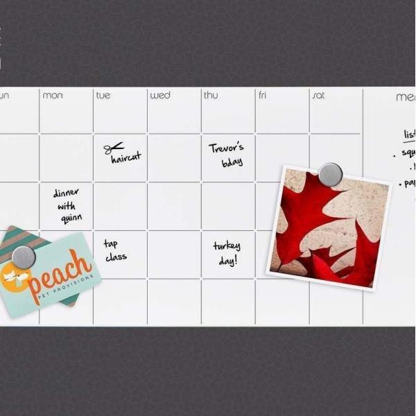 ホワイトボード スケジュールボード 月 予定表 おしゃれな 壁掛け マンスリー プランナー ガラス製|enitusa|04