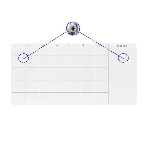 ホワイトボード スケジュールボード 月 予定表 おしゃれな 壁掛け マンスリー プランナー ガラス製|enitusa|05