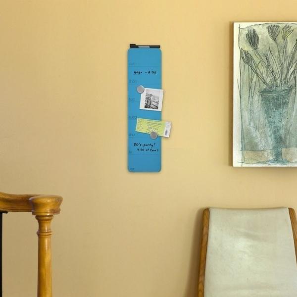 スケジュールボード ホワイトボード おしゃれな 壁掛け 週間 予定表 ガラス製 ウィークリー プランナー 51cm×14cm 全7色|enitusa|08