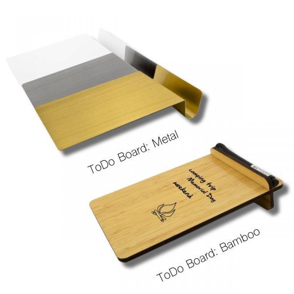 ホワイトボード おしゃれな 卓上 メモ ToDo ボード 送料無料 スティール または 竹製|enitusa|02
