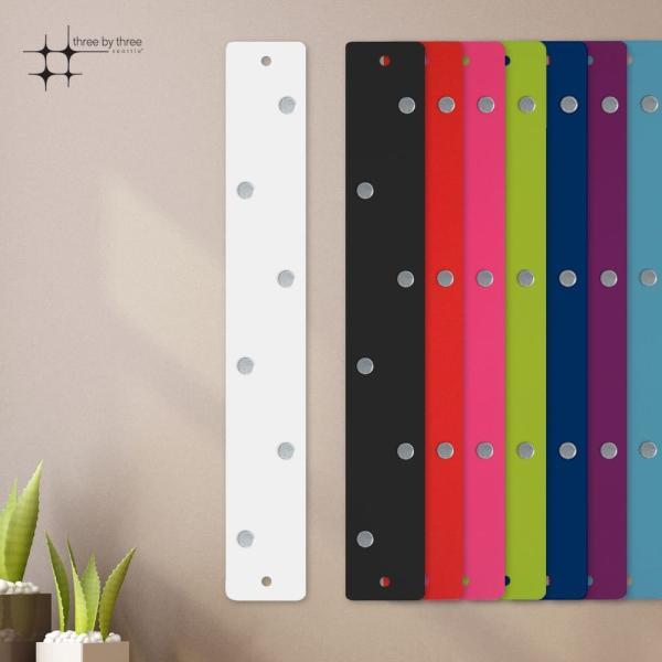マグネットボード おしゃれな 壁掛け マグネット ストリップ ショート 送料無料 壁掛け 収納 グッズ 5cm×35.5cm 100g|enitusa