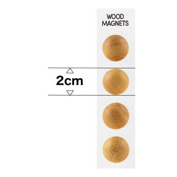 マグネット おしゃれな 強力 ネオジム 磁石 木製 ボール型 ウッド スフィア 直径2cm enitusa 04