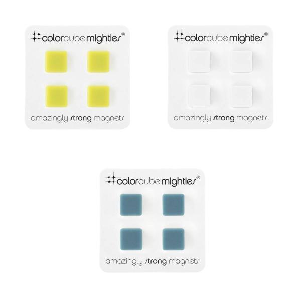 マグネット おしゃれな 強力 ネオジム 磁石 カラー キューブ 白 青 緑 9.5mm|enitusa|05