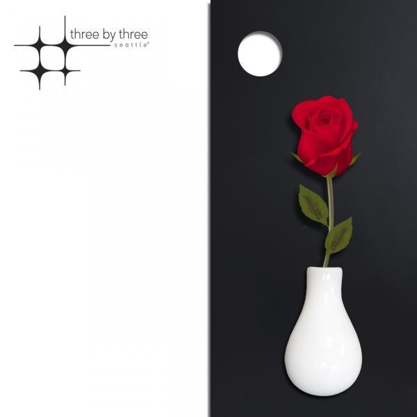 マグネット おしゃれな 花瓶の形の 磁石 セラミック フラワー ベース  7cm×4cm|enitusa