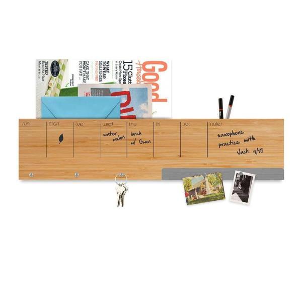 壁面収納 予定表 メモ フック マグネットボード 付き おしゃれな 壁掛けラック 「ウォール キャディ」 enitusa