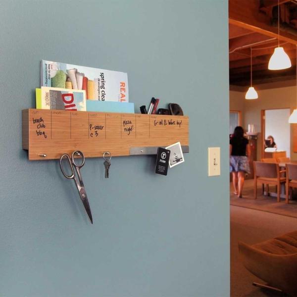 壁面収納 予定表 メモ フック マグネットボード 付き おしゃれな 壁掛けラック 「ウォール キャディ」 enitusa 02
