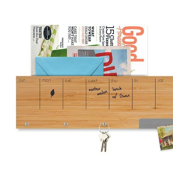 壁面収納 予定表 メモ フック マグネットボード 付き おしゃれな 壁掛けラック 「ウォール キャディ」 enitusa 03