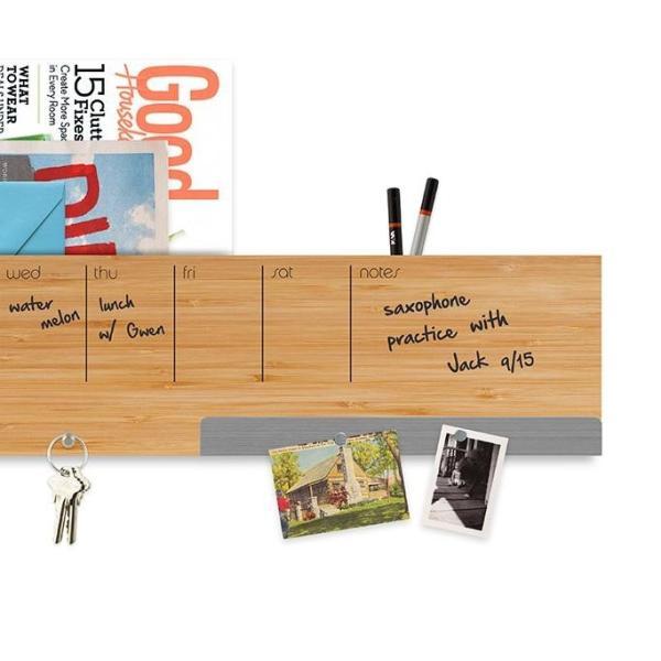 壁面収納 予定表 メモ フック マグネットボード 付き おしゃれな 壁掛けラック 「ウォール キャディ」 enitusa 04