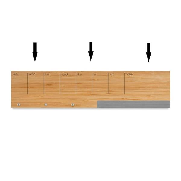 壁面収納 予定表 メモ フック マグネットボード 付き おしゃれな 壁掛けラック 「ウォール キャディ」 enitusa 06