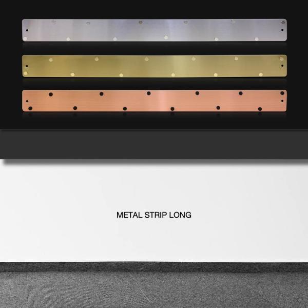 マグネットボード おしゃれな 壁掛け メタル ストリップ ロング 壁掛け 収納 グッズ 6.5cm×71cm|enitusa